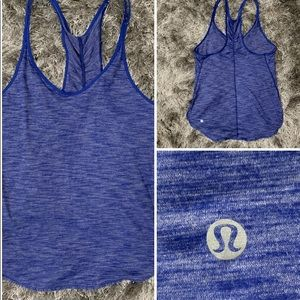 Lululemon Blue Workout Yoga Tank Top